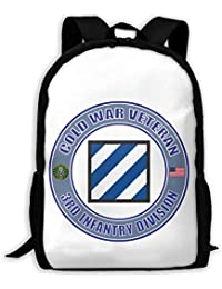 7edf4885b US Army Cold War 3rd Infantry Division Durable School Bookbags Waterproof  Bicycle…