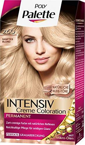 Palette Intensiv Creme Coloration 260 Sanftes Blond Stufe 3, 3er Pack (3 x 115 ml)