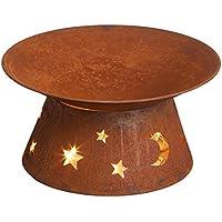 Diseño Estrella Brasero Horno para terraza en efecto oxidado