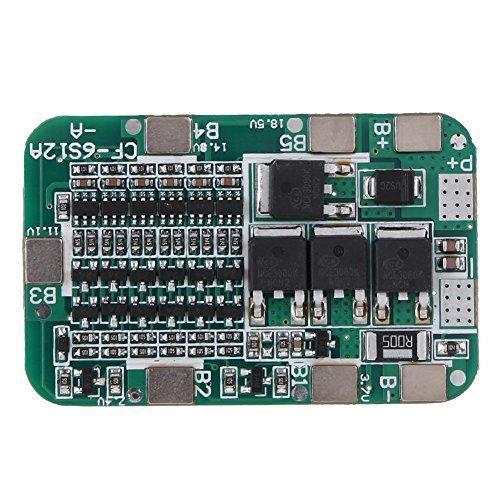 Scheda di protezione PCB BMS RLFS 6S 15A 24V per batteria al litio da 18650 con 6 pacchi da 6 pacchi