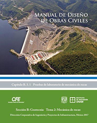 Manual de Diseño de Obras Civiles Cap. B.3.1 Pruebas de Laboratorio de Mecánica de Rocas: Sección B: Geotecnia Tema 2: Mécanica de rocas por Efraín Ovando Shelley