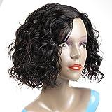 Peluca de pelo humano rizado de Morichy, pelo brasileño virgen 100% sin procesar sin encaje frontal en color negro natural