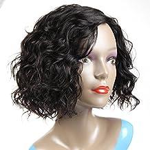 morichy pelo cabello humano pelucas para mujeres 100% en estado natural Virgin brasileño pelo rizado peluca ninguno Lace Front Peluca Color Negro Natural