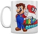Super Mario Odyssey Kaffeebecher Mario With Cappy weiß im Geschenk-Karton