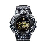 Smartwatch, EX16C Digital Smart Sport Watches Step Activity Tracker IP68 Wasserdicht sockenuhr für Herren Frauen Outdoor – Standby 365 Tage Schwarz