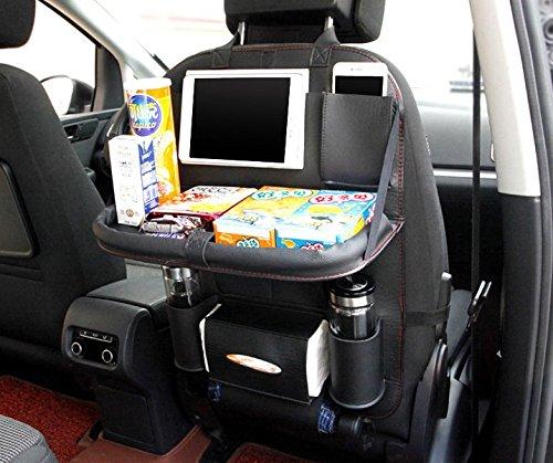 Preisvergleich Produktbild automobil - storage bag, sitz hängenden tasche - tasche, klapptisch für auto -, leder - tasche zurück stuhl, gepäck, auto - artikel,schwarz,rote kante,1.