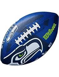 Wilson F1534XB - Balón de fútbol americano para niños, diseño de Seattle Seahawks