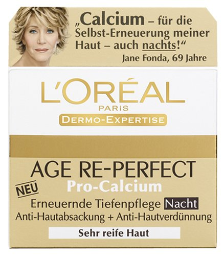 L'Oréal Paris Dermo Expertise Age Re-Perfect Pro Calcium Nachtcreme, 50ml -
