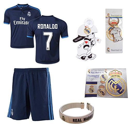 best sneakers 6261b 8f955 iSport Gifts® Real Madrid Blue Ronaldo #7 Kids Soccer Jersey and Soccer  Shorts 6 IN 1 SOCCER FAN GIFT KIT Youth Sizes YS / YM / YL (Youth Medium  8-10 ...