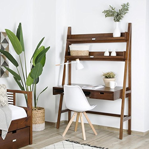Ladder Table Bureau 120 - Bois - 120x60x184 cm - Couleur Teck