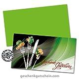"""100 Stk. Gutscheinkarten """"Standard"""" + 100 Stk. Kuverts für Restaurants, Gasthäuser, Gaststätten G1230, LIEFERZEIT 2 bis 4 Werktage !"""