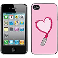 Plastic Shell Protective Case Cover || Apple iPhone 4 / 4S || Love Heart Pink Kiss @XPTECH