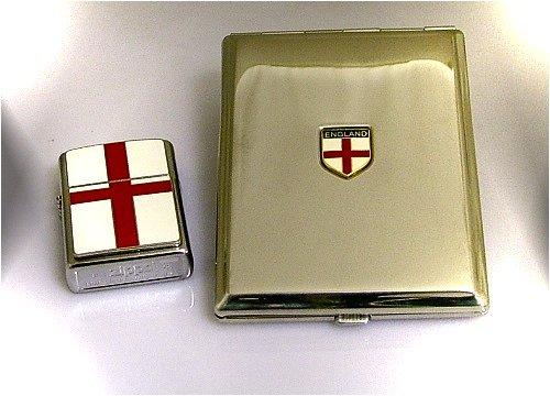 Zippo England Feuerzeug und Zigarettenetui