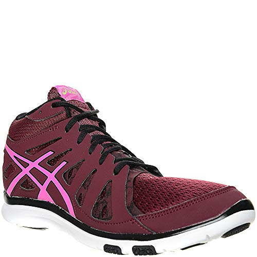 ASICS Gel-FIT Tempo 2 Mid Height Women\'s Fitness Shoes (S564N-2935) (Royal Burgundy/Pink Glow/Onyx) (UK 4 / EU 37 / US 6 / cm 23.0)