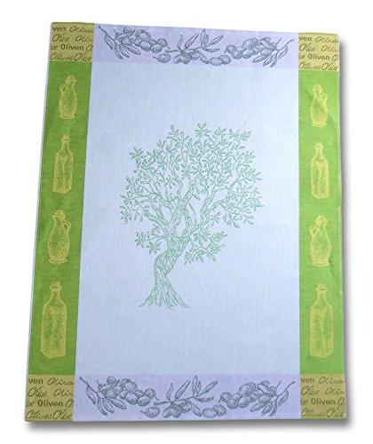 Reaper Strofinacci in lino Olive, Panno, verde, 55 x 75