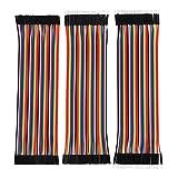 Cables de Puente de Tablero Conector Kit de Cables Planos Alambre Dupont 40 Pin M/ M, 40 Pin M/ F, 40 Pin M/ F Multicolores para Arduino, 120 Unidades