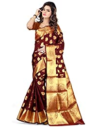 Shree Women's Silk Saree With Blouse Piece (Gbtt78_Multi-Coloured)
