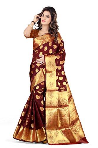 Silk Zone Women's Silk Saree With Blouse Piece (Asz00049_Brown)