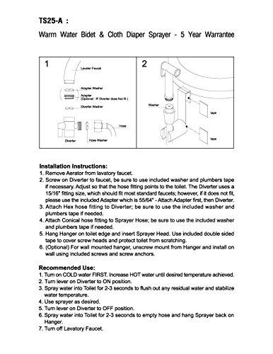 modona Premium warmem Wasser Windel & Bidet Spritze komplett-Set-Messing massiv-Chrom poliert-5Jahr Vorteil