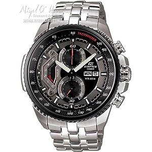 Reloj de caballero CASIO EF-558D-1AVEF Edifice de cuarzo, correa de acero inoxidable color plata de Casio