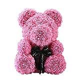 TMY Rosa Oso Flor eterna Cumpleaños Regalo de San Valentín Material de Bricolaje Flores de Espuma Hechas a Mano (Color : Pink)