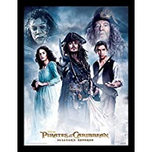 """Pirati dei Caraibi: Salazar S Revenge stampa incorniciata """"cast, multicolore, 30x 40cm"""
