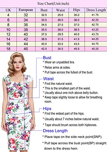 Belle Poque 1950er Style Vintage Kleid Elegant Etuikleid Knielang Festliche Kleider Saphirblau