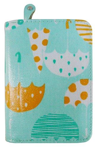 Kukubird Vari Gatti Unicorni Animali Ancora Ombrello Floreale Pattern Medium Signore Borsa Frizione Portafoglio Umbrella Turquoise
