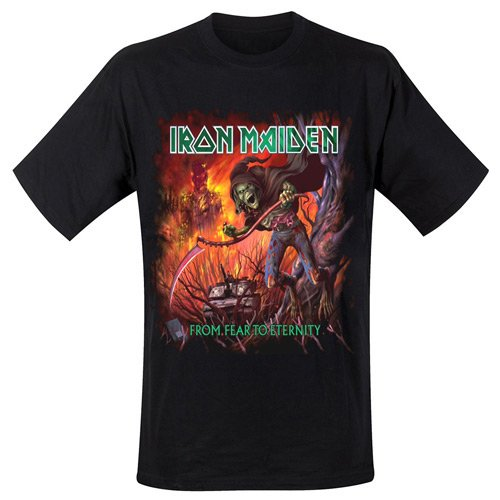 Collectors Mine Herren T-Shirt Iron Maiden-From Fear to Eternity Schwarz (Schwarz)