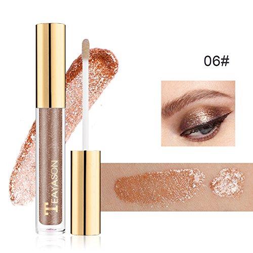 Black Shimmer Eyeliner (Allbesta Glitter Liquid Eyeliner Eye Shadow Makeup Shimmer Easy to Wear Waterproof Pigmented White Gold Silver Black)