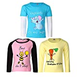 #9: Goodway Girl'sFull Sleeve Colour T-Shirts Did You Know Theme-3 (JG3PCKFSLVCOL-DYK-3_Multicolour)