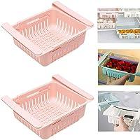 2pcs panier de rangement pour réfrigérateur rétractable - 8 po, étagère de rangement pour réfrigérateur, étagère de…
