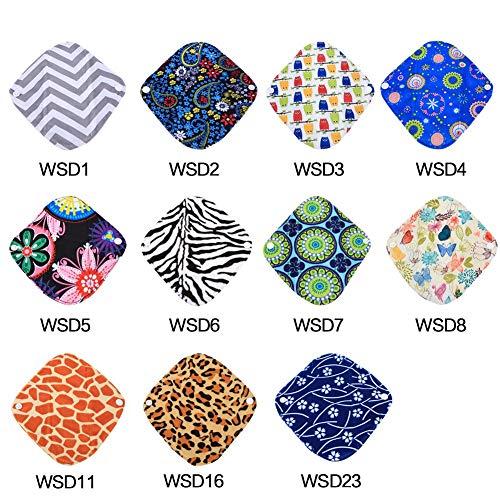 1x Tuch Damenbinde, 1 Stück 20 * 18 cm 3 Schichten schwere wiederverwendbare waschbare Slipeinlage Bambus Tuch Mama Menstruation Pads Verhindert Lecks(WSD1) -