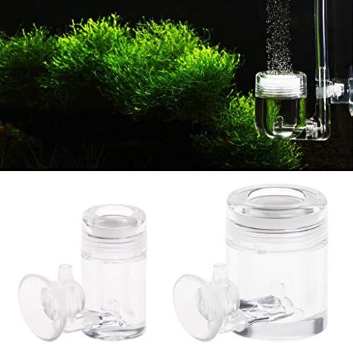 Vektenxi CO2 Diffusor mit Blasenzähler, Acryl Aquarium Wasserpflanze 2 Größe Langlebig und praktisch -