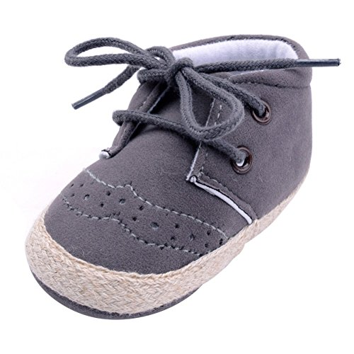Brightup Baby Soft Soled Baby Schuhe, Baby Mädchen Winter Frühling Herbst Schuhe Booties Dunkelgrau