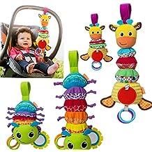 Lalang Bébé Jouet de Poussette Berceau Hochet Jouets Animales éducatifs en Peluche, d'activités Hanging Jouets avec des Dents