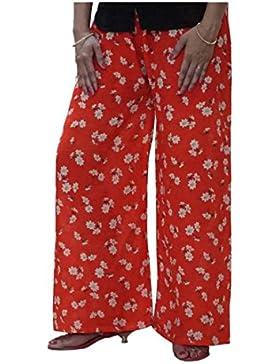 Indian Handicrfats Export DiscountZila Flared Women's Orange, Cream Trousers