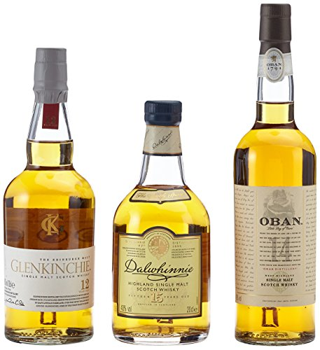 The Classic Malts Collection Pack Gentle Single Malt Whisky Pack (3 x 0.2 l) mit Dalwhinnie 15, Oban 14, Glenkinchie 12