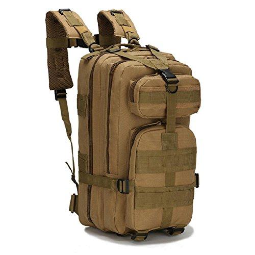 ZX&Q Militär Taktik Outdoor Sport Klettern 21L Oxford wasserdichte atmungsaktive Tarnung Taktik 3p Doppel Schulter Rucksack D