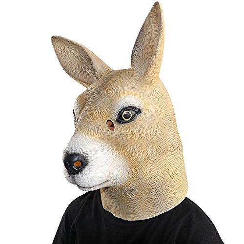 Maske latex Känguru Tiermaske Kostüm (Cute Halloween Animal Costumes)