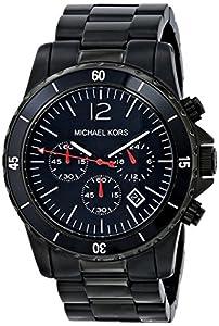 Reloj Michael Kors Fashion MK8161 de cuarzo para hombre, correa de acero inoxidable color negro de Michael Kors