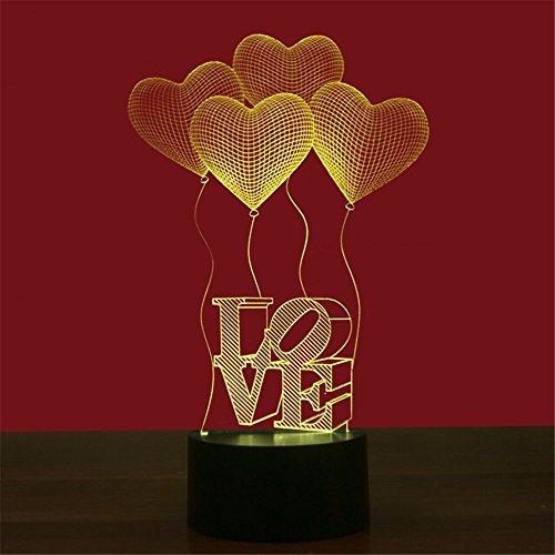 WHLQXD La Petite Lampe 3D Façon Acrylique Lampe Lumineuse Des Feux Et De Leur Vision Créative Lumineuses La Couleur Veilleuses