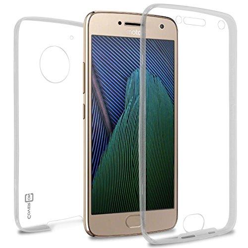 Moto G5Plus Fall, Moto G Plus 5. Generation Fall, Moto X 2017Fall, coveron [wrapguard Serie] Full Body Zwei Stück Ultra Slim Fit Klar TPU Cover für Motorola Moto X (2017Version)/G5Plus Klar (Moto Phone Cricket G)