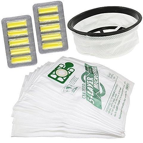 Aspirateur Hoover filtre 30,5cm 10Sacs désodorisants pour kit de rechange compatible authentique pour Numatic Henry Surround en caoutchouc d'étanchéité