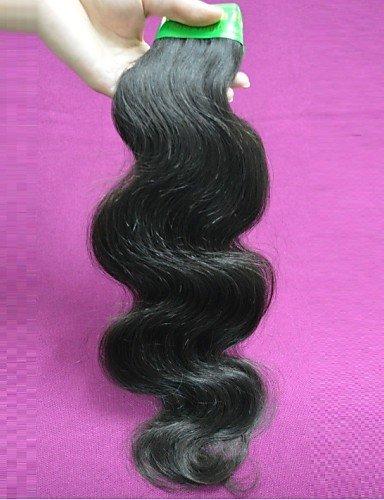 ZQ indischen Großhandel 2kg Original ohne Verarbeitung von Remy Virginal des indischen Haar Teil der Wellenlänge des Körpers des menschlichen Haar Natur, 22 Zoll & 24 Zoll-Naturfarbe
