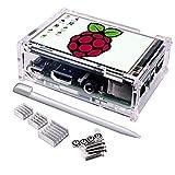 Pantalla para Raspberry Pi , Quimat 3.5 Inch Pantalla Táctil TFT LCD 480x320 con Cáscara Protectiva+ 3 Disipadores de calor + Lapiz Tactil para Raspberry Pi 3 2 1 Modelo B B+ A A+