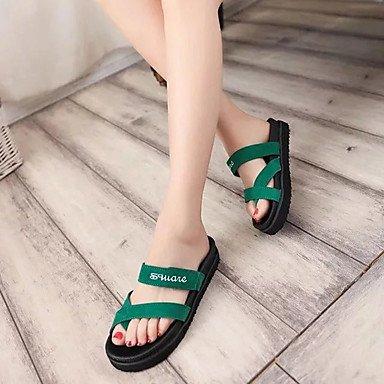 LvYuan Sandali-Casual-Comoda-Piatto-PU (Poliuretano)-Nero Verde Black