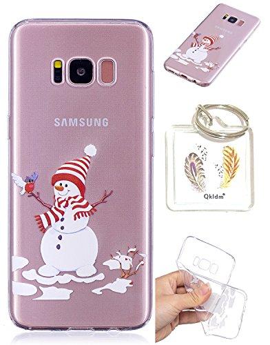 Preisvergleich Produktbild Hülle Samsung Galaxy S8 Plus TPU schutz silikonhülle, Weihnachtsgeschenke niedlichen cartoon bild transparent handy Hülle für Samsung Galaxy S8 Plus (6,2 zoll) + schlüsselanhänger (* / 81) (3)