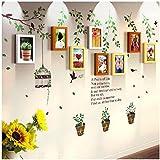 Galleria fotografica X&L 8 scatola verde rustico solido legno cornici parete adesivo combinata soggiorno camera da letto tè negozio...