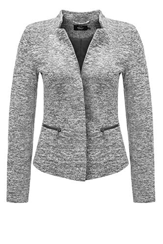 ONLY NOS Damen Anzugjacke onlSTORY Maddy Mel Zip Blazer NOOS TLR, Grau (Medium Grey Melange), 38